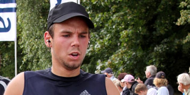 FRANKFURT, GERMANY - SEPTEMBER 13:  In this photo released today, co-pilot of Germanwings flight 4U9525 Andreas Lubitz participates in the Airport Hamburg 10-mile race on September 13, 2009 in Hamburg, Germany. Lubitz is suspected of having deliberately piloted Germanwings flight 4U 9525 into a mountain in southern France on March 24, 2015 and killing all 150 people on board, including himself, in the worst air disaster in Europe in recent history.  (Photo by Getty Images)