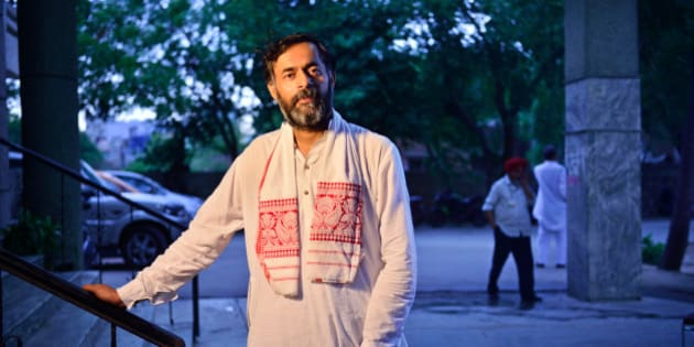 GURGAON, INDIA - MAY 19: Yogendra Yadav, former AAP leader, poses for a profile shoot, on May 19, 2015 in Gurgaon, India. (Photo by Pradeep Gaur/Mint via Getty Images)