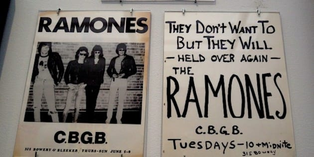 The Ramones items are on display during a press preview at the Queens Museum April 5, 2016 for 'Hey! Ho! Let's Go: Ramones and the Birth of Punk!' in New York.  The exhibit takes place April 10 to July 31, 2016. / AFP / Timothy A. CLARY        (Photo credit should read TIMOTHY A. CLARY/AFP/Getty Images)