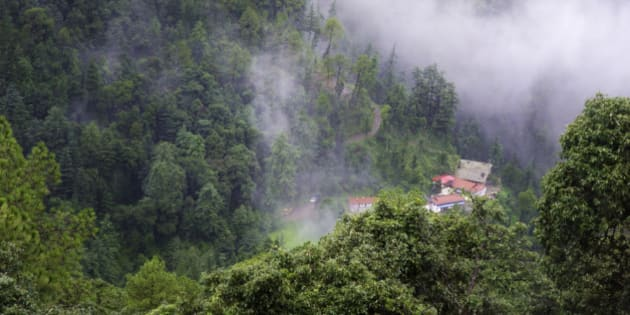 A scenic place in the hills of shimla, India