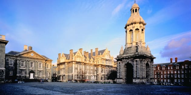 Ireland,Dublin,Trinity College, Parliament Square and Campanile