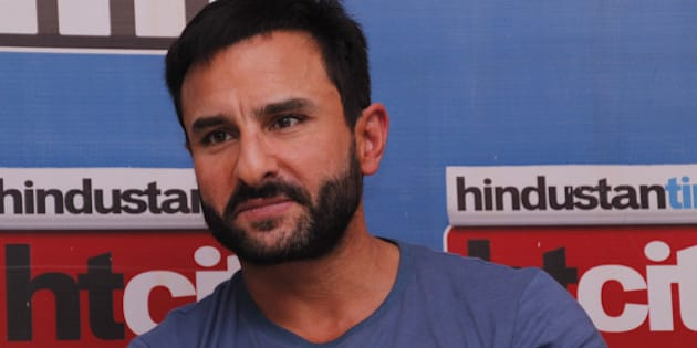 NEW DELHI, INDIA - AUGUST 24: Bollywood actor Saif Ali Khan during an exclusive interview with HT City for the promotion of his upcoming movie Phantom at HT Media office on August 24, 2015 in New Delhi, India. (Photo by Shivam Saxena/Hindustan Times via Getty Images)