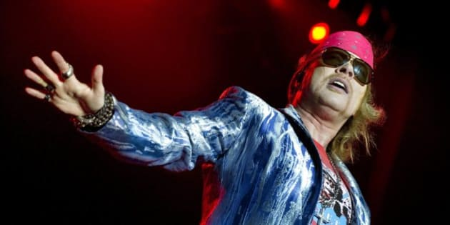 Axl Rose of Guns N' Roses performs during the Sweden Rock Festival 2010 in Solvesborg, Sweden, June 12, 2010. REUTERS/Claudio Bresciani/Scanpix Sweden (SWEDEN - Tags: ENTERTAINMENT) SWEDEN OUT. NO COMMERCIAL OR EDITORIAL SALES IN SWEDEN