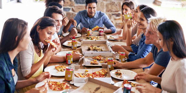 Cropped shot of a group of friends enjoying pizza togetherhttp://195.154.178.81/DATA/i_collage/pi/shoots/783606.jpg