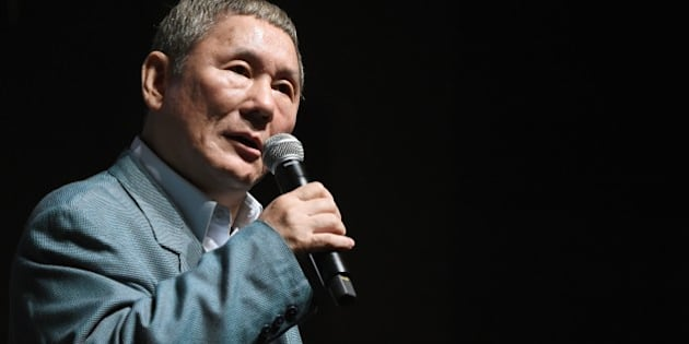 Japanese movie director Takeshi Kitano answers questions after winning the first Samurai Award of the Tokyo International Film Festival during an event with young Japanese filmmakers in Tokyo on October 25, 2014.     AFP PHOTO/Toru YAMANAKA        (Photo credit should read TORU YAMANAKA/AFP/Getty Images)