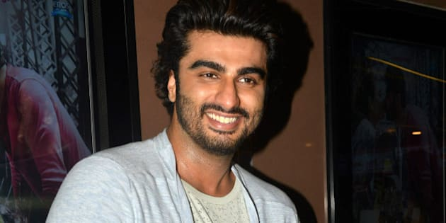 MUMBAI, INDIA APRIL 05 : Arjun Kapoor during the special screening of his upcoming movie Ki and Ka in Mumbai.(Photo by Milind Shelte/India Today Group/Getty Images)