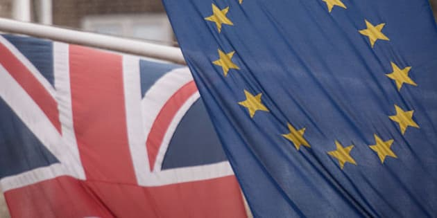 """File photo dated 17/2/2016 of EU and UK flags fly above the EU Commission offices in Westminster, London. Former CIA chief Michael Hayden has warned that European Union membership sometimes """"gets in the way"""" of states providing security, fuelling the row over whether a Brexit would put the safety of Britons at risk."""