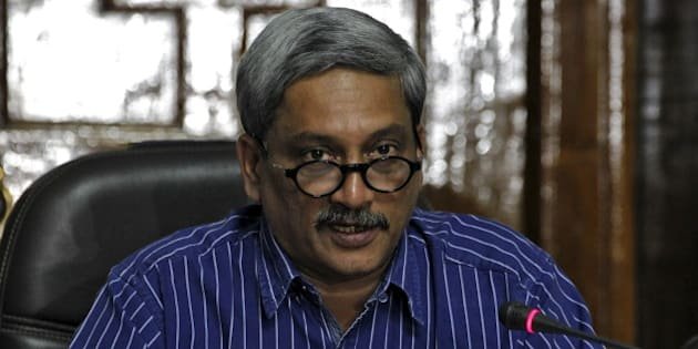 "India's Defence Minister Manohar Parrikar addresses the media in New Delhi, India, September 5, 2015. The Indian government approved a long-awaited programme to equalise pension payments for retired military personnel despite it being a ""huge fiscal burden,"" Parrikar said on Saturday. REUTERS/Stringer"