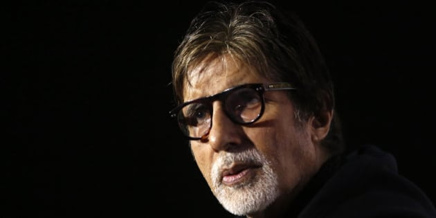 """Indian Bollywood actor Amitabh Bachchan, who was part of director Ramesh Sippy made movie """"Sholay"""" in 1975, attends a press conference, as the film completes 40 years on Saturday, in Mumbai, India, Friday, Aug. 14, 2015. The action-adventure went on to become the biggest hit film of Indian cinema. (AP Photo/Rajanish Kakade)"""