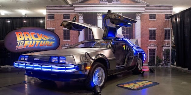 A replica of the DeLorean car from 'Back to the Future' is seen on display during the Silicon Valley Comic Con in San Jose, California on March 19, 2016.  The comic and entertainment-themed event features exhibits, panel discussions and pop culture artistry. / AFP / JOSH EDELSON        (Photo credit should read JOSH EDELSON/AFP/Getty Images)