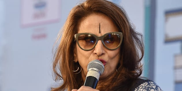 JAIPUR, INDIA - JANUARY 21: Shobhaa De during the session 'An Unsuitable Boy' at  Jaipur Literary Festival 2016, on January 21, 2016 in Jaipur, India.Ninth edition of ZEE Jaipur Literature Festival is set to witness over 360 participants from the fields of literature, history, politics, economy, art and culture debate and discuss on one platform during the course of the next five days. (Photo by Sanjeev Verma/Hindustan Times via Getty Images)