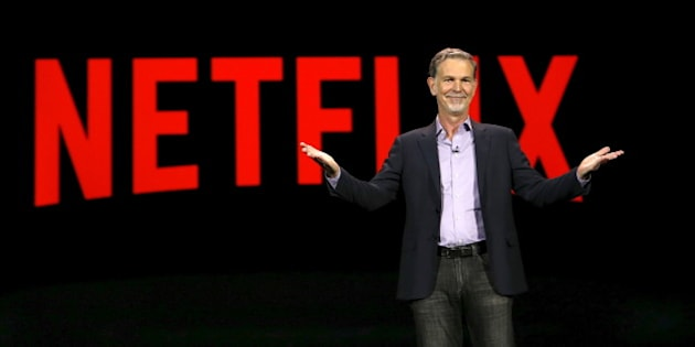 Reed Hastings, co-founder and CEO of Netflix, delivers a keynote address at the 2016 CES trade show in Las Vegas, Nevada in this January 6, 2016, file photo.  REUTERS/Steve Marcus/Files  GLOBAL BUSINESS WEEK AHEAD PACKAGE - SEARCH 'BUSINESS WEEK AHEAD APRIL 18'  FOR ALL IMAGES