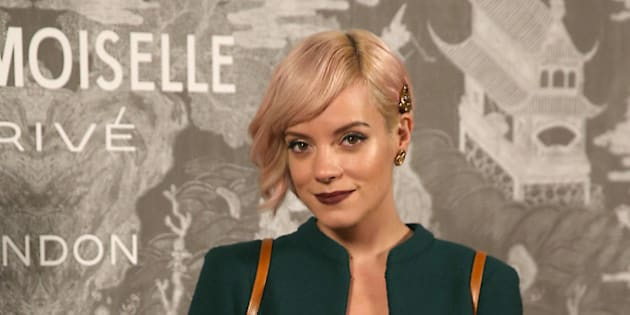 Lily Allen poses for photographers upon arrival at the Chanel Mademoiselle Prive Exhibit in London, Monday, Oct. 12, 2015. The exhibition charts the journey through the origins of Chanel's creations including the designs of Mademoiselle Chanel and Karl Lagerfeld. (Photo by Joel Ryan/Invision/AP)