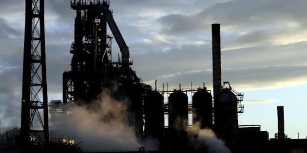 One of the blast furnaces of the Tata Steel plant is seen at sunset in Port Talbot, South Wales, May 31, 2013. REUTERS/Rebecca Naden/File PhotoFOR EDITORIAL USE ONLY. NO RESALES. NO ARCHIVES