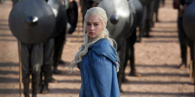 """FILE - This file publicity image released by HBO shows Emilia Clarke as Daenerys Targaryen in a scene from """"Game of Thrones.""""   HBO plans to offer a stand-alone version of its popular video-streaming service, CEO Richard Plepler said at an investor meeting at parent Time Warner Inc. on Wednesday, Oct. 15, 2014. (AP Photo/HBO, Keith Bernstein, File)"""
