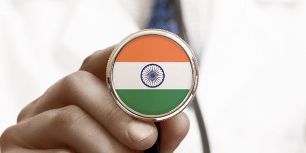 Stethoscope with national flag conceptual series - India