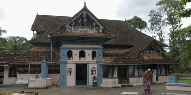 Thazhathangady Juma Masjid, built around 1500 years ago by early Arab travelers during the time of the Cheraman empire, situated in Kummanam, Kerala, India. (Photo by: IndiaPictures/UIG via Getty Images)