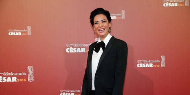 Moroccan actress Loubna Abidar arrives at the 41th French Cesar Awards Ceremony, in Paris, Friday Feb. 26, 2016. This annual ceremony is presented by the French Academy of Cinema Arts and Techniques. (AP Photo/Thibault Camus)