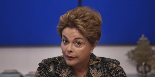 Dilma Rousseff, Brazil's president, speaks during a meeting with journalists at the residence of the Brazilian ambassador to the United Nations in New York, U.S., on Friday, April 22, 2016. Rousseff said she will fight against an impeachment process she considers a coup attempt, while her vice president begins assembling his own government to replace hers. Photographer: Victor J. Blue/Bloomberg via Getty Images