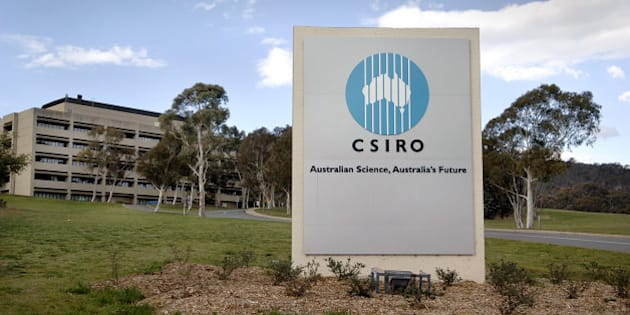 AUSTRALIA - SEPTEMBER 18:  A sign marks the entrance to CSIRO headquarters, the Australian government's science research agency, in Canberra, Australia, on Monday, September 18, 2006.  (Photo by Jack Atley/Bloomberg via Getty Images)
