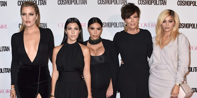 Khloe Kardashian, from left, Kourtney Kardashian, Kim Kardashian, Kris Jenner and Kylie Jenner arrive at Cosmopolitan magazine's 50th birthday celebration at Ysabel on Monday, Oct. 12, 2015, in West Hollywood, Calif. (Photo by Jordan Strauss/Invision/AP)