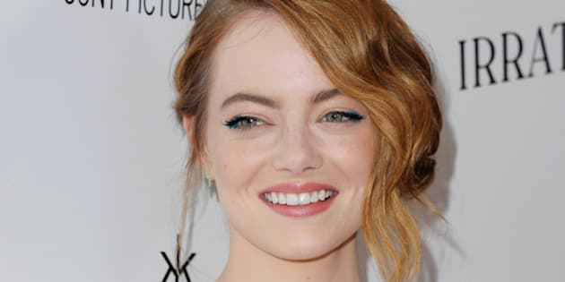 LOS ANGELES, CA - JULY 09:  Actress Emma Stone arrives 'Irrational Man' at Writers Guild Awards on July 9, 2015 in Los Angeles, California.  (Photo by Jon Kopaloff/FilmMagic)