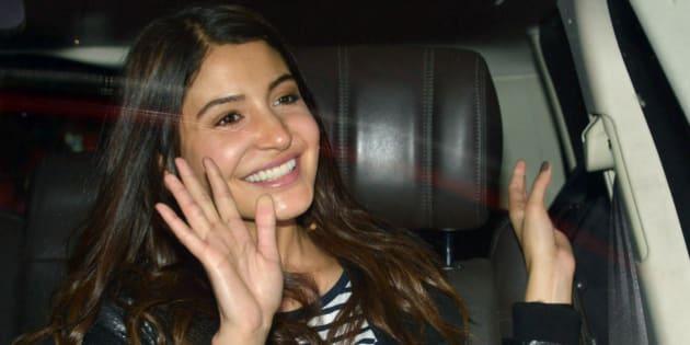 MUMBAI, INDIA OCTOBER 15: Anushka Sharma spotted at Mumbai airport.(Photo by Milind Shelte/India Today Group/Getty Images)