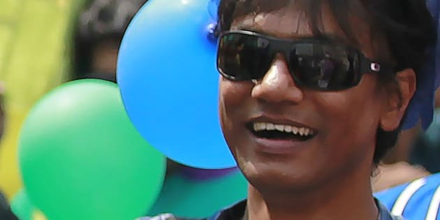 This photograph taken on April 14, 2014, shows Bangladesh activist Xulhaz Mannan as he attends a Bengali New Year rally organised by a Bangladesh LGBT society in Dhaka. 