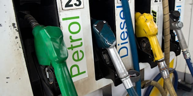 A petrol fuel pump is pictured at a station in New Delhi on January 16, 2013. Petrol price was hiked late January 15 night by about 35 paise per litre in line with firming raw material cost. Petrol will cost Rs 67.56 per litre in Delhi with effect from midnight, as the state government withdrew VAT exemption on the fuel. AFP PHOTO/ Prakash SINGH        (Photo credit should read PRAKASH SINGH/AFP/Getty Images)