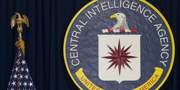 The logo of the Central Intelligence Agency (CIA) is seen at CIA Headquarters in Langley, Virginia, April 13, 2016. / AFP / SAUL LOEB        (Photo credit should read SAUL LOEB/AFP/Getty Images)