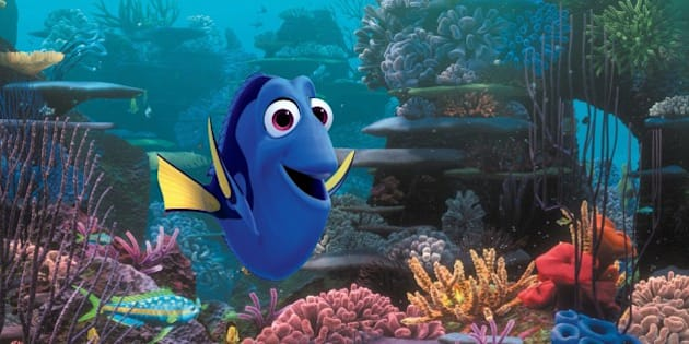 "This image released by Disney-Pixar shows the character Dory, voiced by Ellen DeGeneres, in a scene from ""Finding Dory,"" opening nationwide on June 17. (Disney•Pixar via AP)"