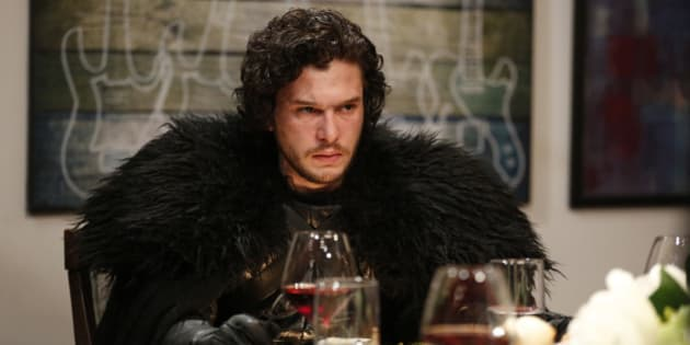 LATE NIGHT WITH SETH MEYERS -- Episode 0188 -- Pictured: Kit Harrington as Jon Snow during the 'Game of Thrones' skit on April 2, 2015 -- (Photo by: Lloyd Bishop/NBC/NBCU Photo Bank via Getty Images)