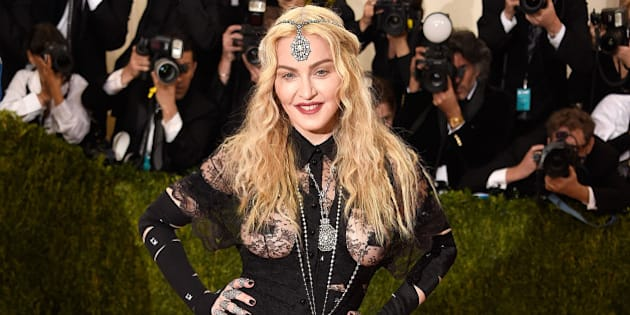 NEW YORK, NY - MAY 02:  Madonna attends 'Manus x Machina: Fashion In An Age Of Technology' Costume Institute Gala at Metropolitan Museum of Art on May 2, 2016 in New York City.  (Photo by Kevin Mazur/WireImage)