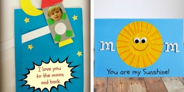 Mother S Day Crafts For Kids 12 Cards To Fill With Love Huffpost