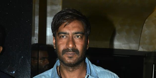 MUMBAI, INDIA  OCTOBER 22: Ajay Devgan at the trailer launch of the movie Action Jackson in Mumbai. (Photo by Milind Shelte/India Today Group/Getty Images)