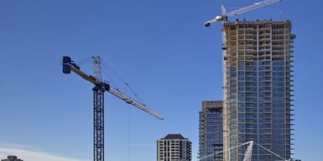 New construction of high-rise building in Burnaby city