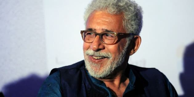 Indian Bollywood actor Naseeruddin Shah attends the book launch of 'The Village of Pointless Conversation',  which spawned the Hindi film 'Finding Fanny', in Mumbai on February 23, 2016.   AFP PHOTO / AFP / STR        (Photo credit should read STR/AFP/Getty Images)