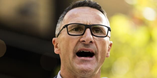 MELBOURNE, AUSTRALIA - APRIL 30: Australian senator and greens leader Richard Di Natale delivers a speech during a protest demanding that asylum seekers held in off shore detention to be brought to Australia at a rally in Melbourne, Australia on April 30, 2016. Protests have started after The Papua New Guinean Supreme Court ruled that the Australian-run detention centres on Manus Island were illegal and unconstitutional. (Photo by Asanka Brendon Ratnayake/Anadolu Agency/Getty Images)