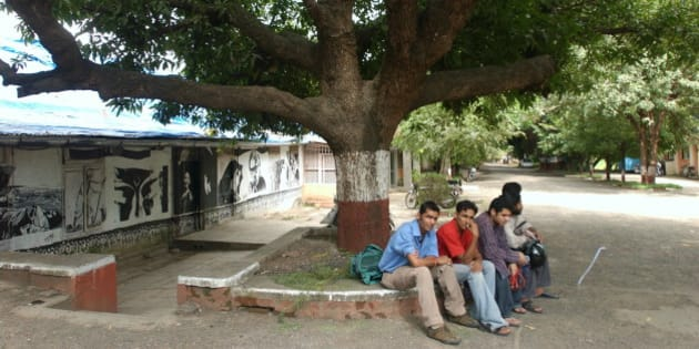 INDIA - SEPTEMBER 08:  View of the Wisdom Tree at Film and Television Institute of India ( FTII) in Pune, Mahararashtra, India  (Photo by Bhaskar Paul/The India Today Group/Getty Images)