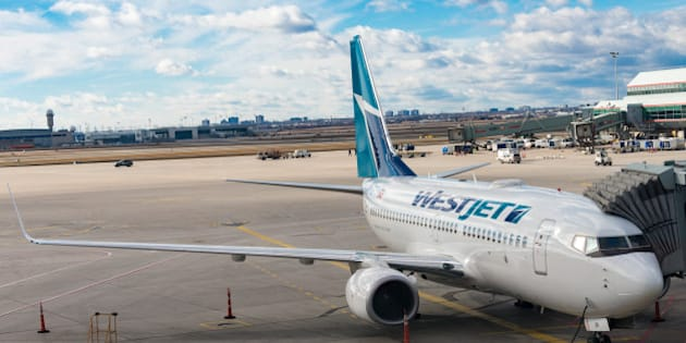 PEARSON INTERNATIONAL AIRPORT, TORONTO, ONTARIO, CANADA - 2016/02/01: Westjet Boeing 737-800 at Pearson International Airport ready to be boarded by passengers. (Photo by Roberto Machado Noa/LightRocket via Getty Images)