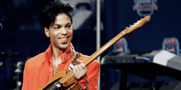 01 February 2007: Super Bowl half time show performer Prince performs for the media at the Half Time press conference in Miami Florida.RTNRoth/MediaPunch/IPX