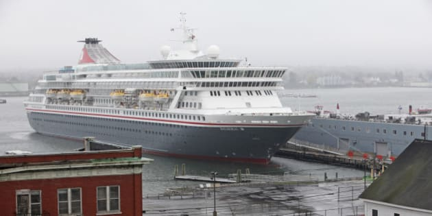 PORTLAND, ME - MAY 8: The Balmoral cruise ship docked at the Maine State Pier. (Photo by Jill Brady/Portland Press Herald via Getty Images)