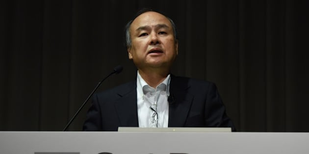Masayoshi Son, president of Japan's telecom and Internet group SoftBank Group, speaks during a press conference in Tokyo on May 10, 2016. 