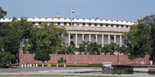 Parliament house, new delhi, india,