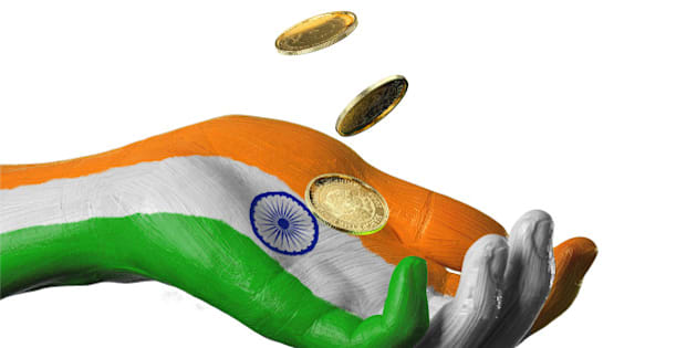 nation, nationality, charity, poverty, money,india, indian, hindu, hindi, Republic of India, rupee, sanskrit, New Delhi, mumbai, namaste, coins, gold, donation, donate, help, aid, fund, provide, sustainability, economy, business, support, government, politics, country, flag, hand, painted, natural, citizenship, peace, world, culture, identity, one person, creative, concept, vote, elections, hand sign, hand symbol, white background, cutout