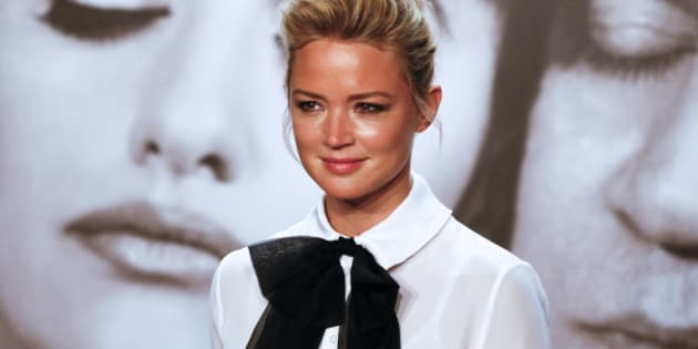 Actress Virginie Efira poses during a photocall as she attends the 2014 Lumiere Film Festival in Lyon, October 13, 2014. Picture taken October 13, 2014.   REUTERS/Robert Pratta   (FRANCE - Tags: ENTERTAINMENT HEADSHOT)