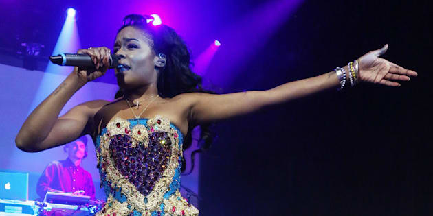 NEW YORK, NY - MAY 11:  Azealia Banks performs at Irving Plaza on May 11, 2015 in New York City.  (Photo by Taylor Hill/Getty Images)