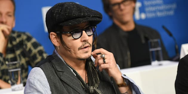 """Actor Johnny Depp attends the press conference for """"Black Mass"""" on day 5 of the Toronto International Film Festival at the TIFF Bell Lightbox on Monday, Sept. 14, 2015, in Toronto. (Photo by Evan Agostini/Invision/AP)"""