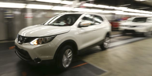 A new Nissan Qashqai SUV automobile is driven off the production line at Nissan Motor Co.'s vehicle assembly plant in Sunderland, U.K., on Wednesday, March 12, 2014. About 80 percent of the 1.5 million vehicles made in the U.K. are sold overseas, the majority of them to the EU, according to the Society of Motor Manufacturers and Traders. Photographer: Chris Ratcliffe/Bloomberg via Getty Images