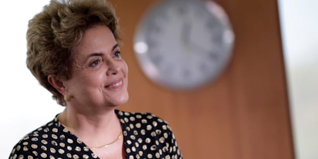 Brazil's President Dilma Rousseff smiles during a meeting with Secretary General of the Organization of American States (OAS) Luis Almagro (not pictured) in Brasilia, Brazil, May 10, 2016. REUTERS/Ueslei Marcelino/File Photo